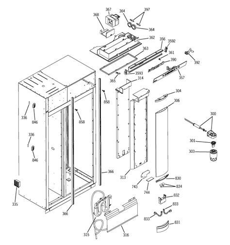 ge monogram side  side refrigerator model zisd  vertical plastic light