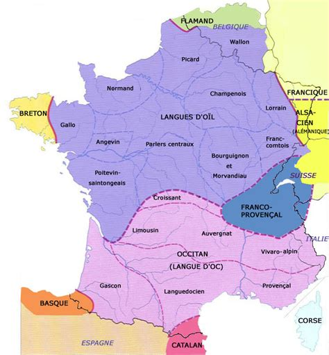 Map Of France In French Language.Map France French Language