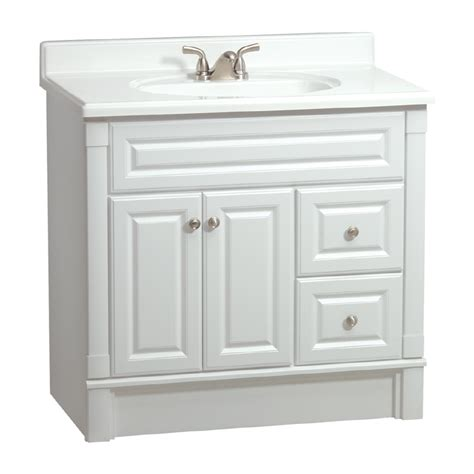 Bathroom Cabinets At Lowes by Estate By Rsi Southport White 36 In Casual Bathroom Vanity