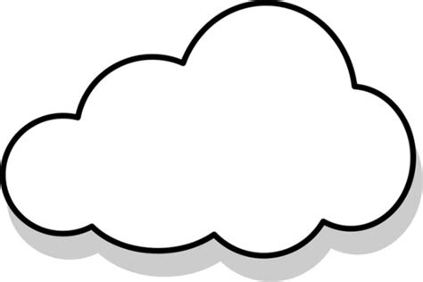 Cloud Template With Lines by Vector Line Drawings Clouds Free Vector For Free