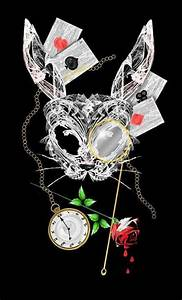 Dark art. Dark alice. White rabbit. Wonderland. Underland ...