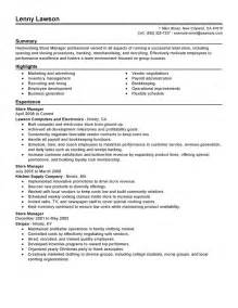 Retail Store Manager Resume Student Resume Template