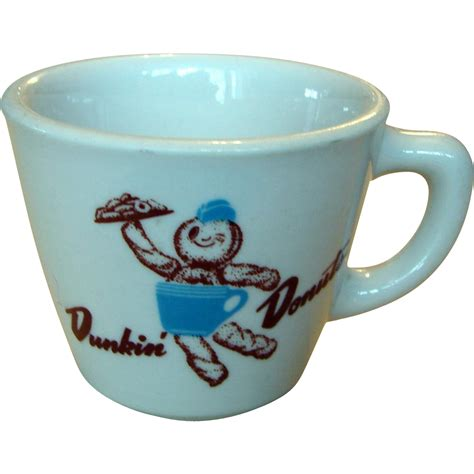 """In need of a coffee and donut fix? 1968 Dunkin Donuts """"Donut Boy"""" Coffee Mug from timestreasures on Ruby Lane"""