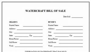 Download The Watercraft Bill Of Sale Free
