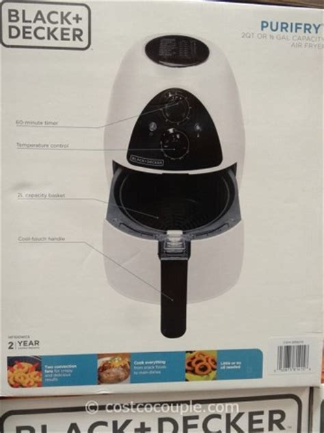 black  decker purifry air fryer