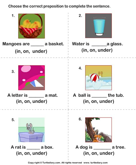 preschool prepositions prepositions in on worksheets for kindergarten 900