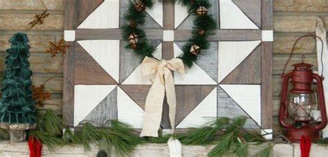 diy barn wood quilt christmas wall decor  day twelve