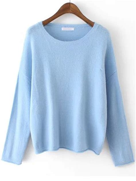 blue sweater blue neck knit sweater fall wardrobe