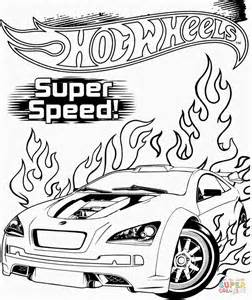 Hot Wheels SuperSpeed Coloring Page
