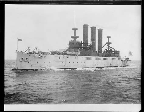 the old uss maine before she was blown up in havana harbor