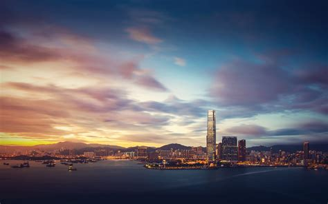 daily wallpaper hong kong sunrise waste time