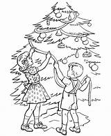 Coloring Christmas Tree Pages Trees Printable Decorating Children Adult Sheet Sheets Trimmer Printables Colouring Among Trimming Winter Popular Xmas Books sketch template