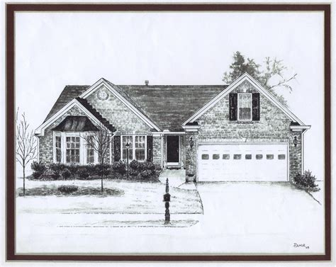 house drawings art by pamir turkish paintings house drawings