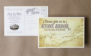 vintage concept postcard save the dates map direction ...