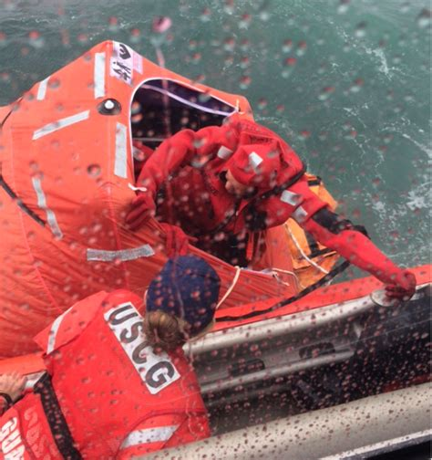 Boat Sinking Jersey by Coast Guard Rescues 3 As Fishing Boat Sinks Of Cape