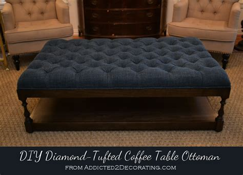 Make Ottoman by Diy Ottoman Coffee Table Finished