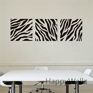 zebra stripe wall sticker decorative zebra wall decal diy With striped wall decals for home