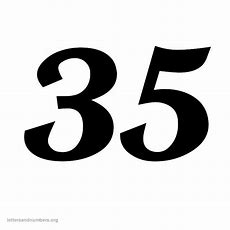 9 Best Images Of Printable Number 35  Printable Numbers 1 40, Printable Number 1 And Printable