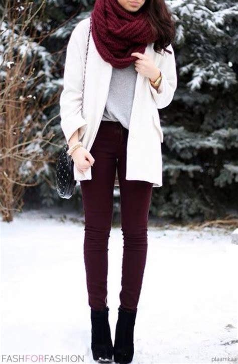 Burgundy Skinny Jeans Women - ShopStyle