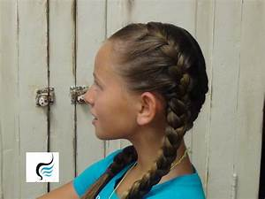 How To Do Tight Double French Braid Girls Hairstyles - YouTube