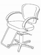 Barber Coloring Printable Jobs Drawing Chair Kb sketch template