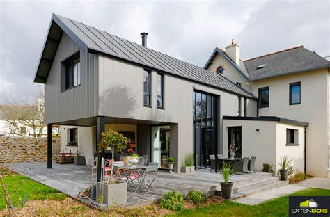 extension maison bois design