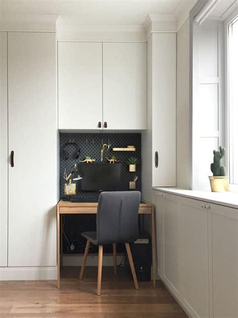 Small Space Living Inspiration Ikea by Ikea Skadis Hack For A Mini Office Nook Scandinavian