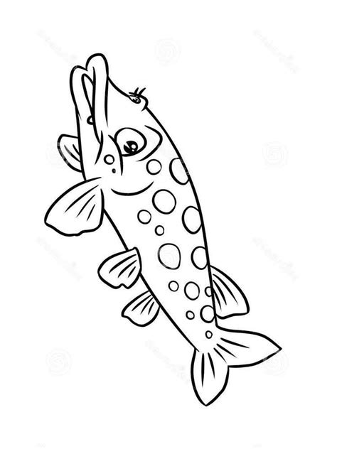 Coloring Images by Pike Coloring Pages And Print Pike Coloring Pages