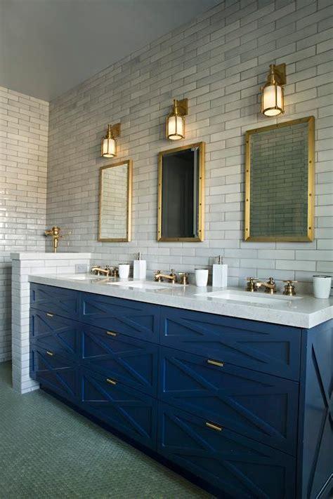 blue sink vanity   sinks  brass faucets