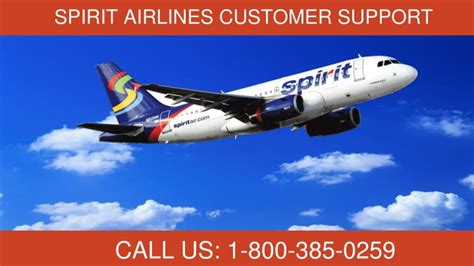 spirit airlines customer support phone number ppt spirit airlines phone number 1 800 385 0259