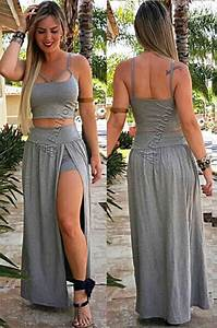 vestido roupas feminina s renda conjunto croped c
