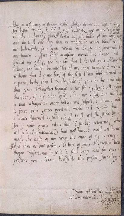 Letter Elizabeth Writing Edward Handwriting Brother Queen