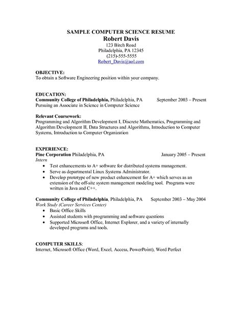 Explaining Computer Skills On A Resume by Coursework On Resume Templates Resume Builder