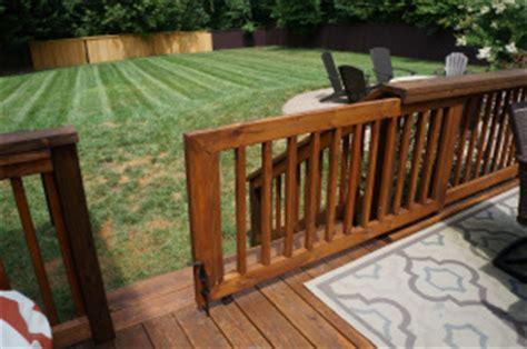 outdoor gate for deck stairs outdoor design with baby in mind wirl project 7227