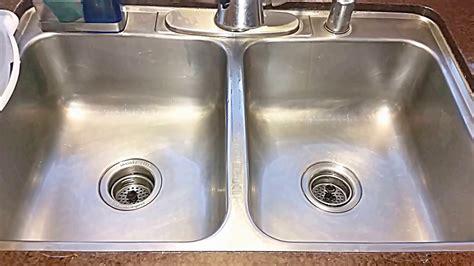 clean stainless steel sink  hydrogen peroxide baking