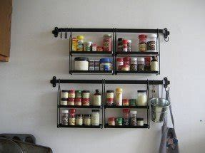 Pre Filled Spice Rack by Stainless Steel Spice Rack Wall Mount Foter