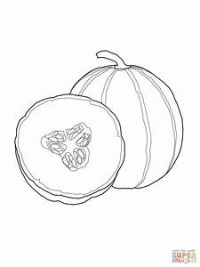 Cantaloupe coloring page | Free Printable Coloring Pages