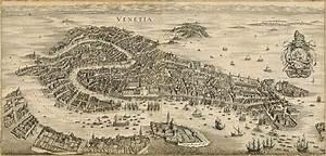 Old Venice Map, Antique 1641 Venice map Restoration