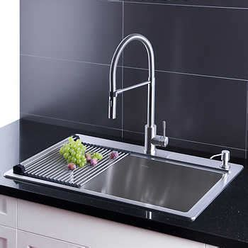 afa stainless 33 kitchen sink reviews costco kitchen sink combo besto