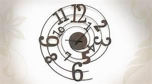 Grosse Pendule Murale : horloge murale geante originale stickoo ~ Teatrodelosmanantiales.com Idées de Décoration