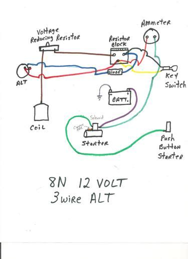 Wiring Diagram For Ford 8n 12 Volt by 8n 12 Volt Wiring Problems Ford 9n 2n 8n Forum