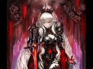 Queen White Hair Anime Girl
