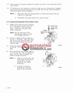 Mitsubishi Diesel Engine Model Dr  4dr5 - 6dr5  Shop Manual