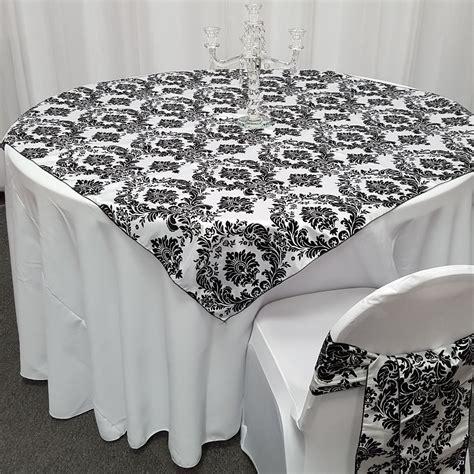 High Quality Taffeta Damask Table Overlays