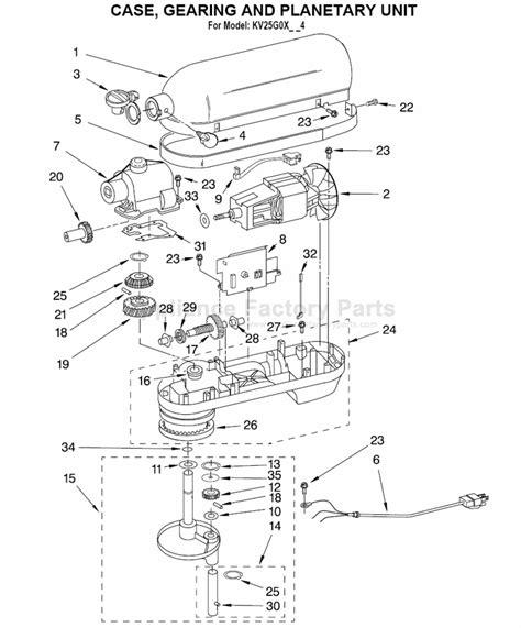 kitchen aid replacement parts parts for kv25g0x 4 kitchenaid mixers