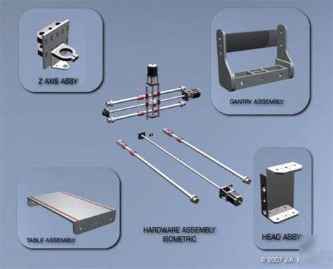 cnc router engraver design package easy  build plans