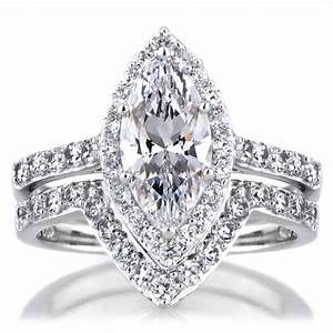 wwwplatinumandgoldjewelrycom With marquise wedding ring set