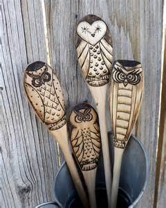 Wood Burned Wooden Spoons