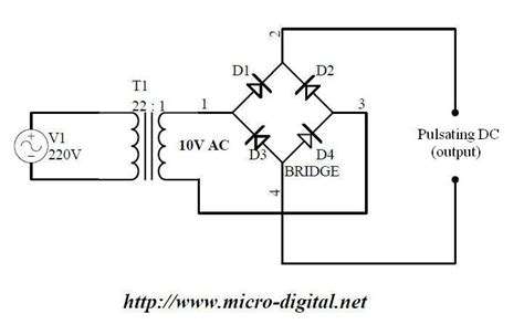 full wave bridge rectifier supply micro digital