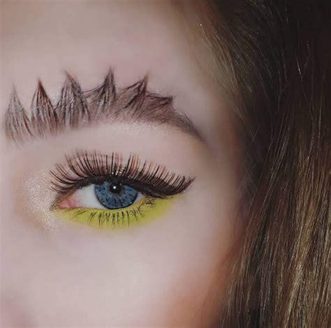 craziest eyebrow trends oddee